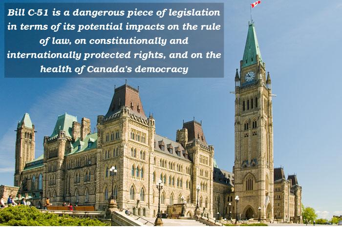 Academics To Parliamentarians Dangerous Bill C 51 Impacts